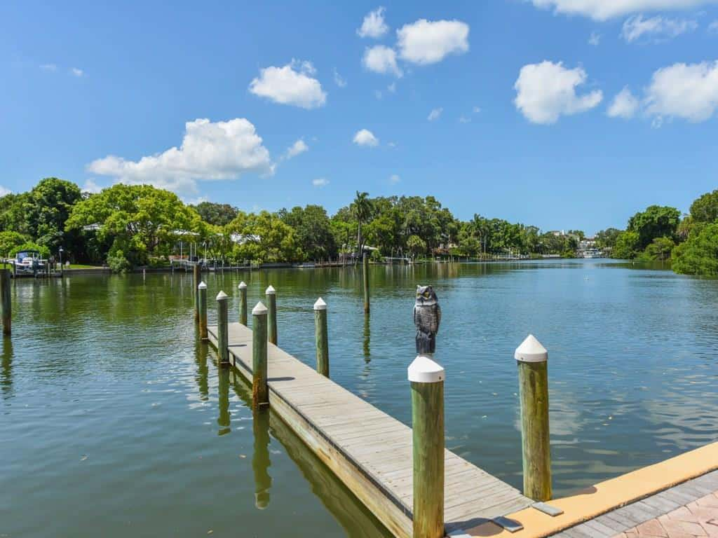 Hudson Crossing condos in Sarasota, FL. - Boat Dock